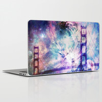 golden gate bridge Laptop & iPad Skin by Haroulita
