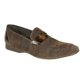 New Mezlan Men's Terzo Brown Velveteen Loafers shoes