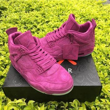 Kaws X Air Jordan 4 Purple Basketball Shoes 36 47