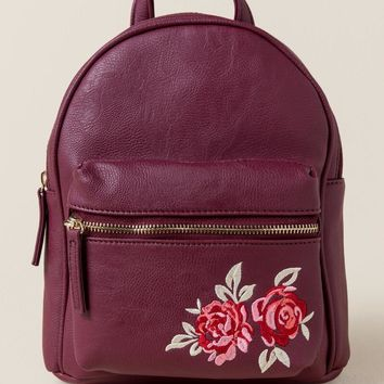 Alex Rose Embroidered Backpack
