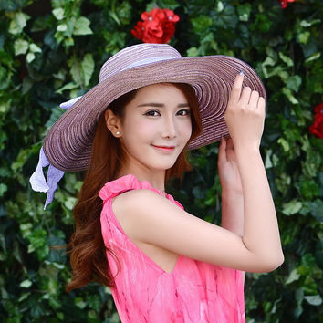 Ladies Summer Cotton Butterfly Folded Hats [10136605127]