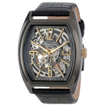Kenneth Cole KC1895 Men's New York Skeleton Dial Leather Strap Automatic Watch