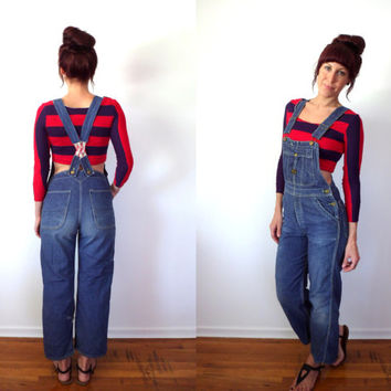 Vintage 50's Washington Dee Cee Sanforized Skinny Denim Overalls