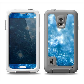 The Unfocused Blue Sparkle Samsung Galaxy S5 LifeProof Fre Case Skin Set