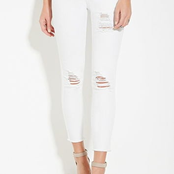 Distressed Skinny Jeans | Forever 21 - 2000185609