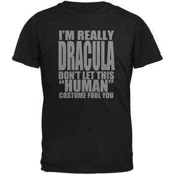 Halloween Human Dracula Costume Black Youth T-Shirt