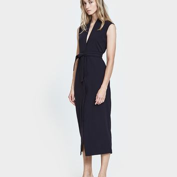 Jesse Kamm / Yuri Wrap Dress in Navy