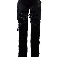Punk rave Gothic novelty Cosplay Black Pants Alternative Measures