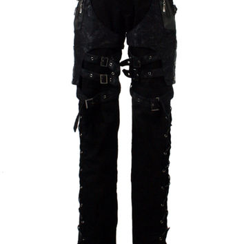 PUNK RAVE GOTHIC NOVELTY BLACK PANTS FASHION