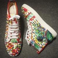 DCCK2 Cl Christian Louboutin Louis Spikes Style #1859 Sneakers Fashion Shoes