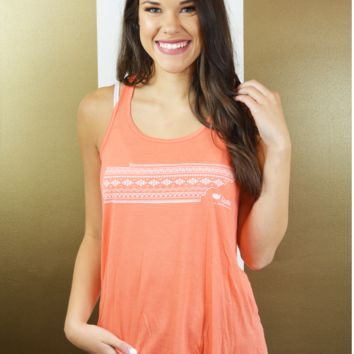 aztec tennessee tank-coral