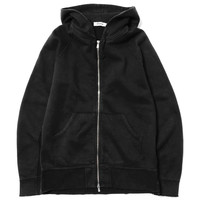 Dweller Hooded Full Zip - Cotton Sweat Overdyed