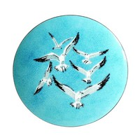 Pre-owned Mid-Century Modern Seagull Enamel Tray
