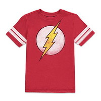 Boys The Flash Varsity-Striped Tee (Kids)