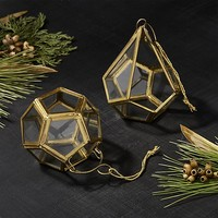 Antique Brass Geometric Ornaments