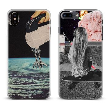 Trippy Art aesthetic Coque Phone Case Cover Shell For Apple iPhone X 8Plus 8 7Plus 7 6sPlus 6s 6Plus 6 5 5S SE