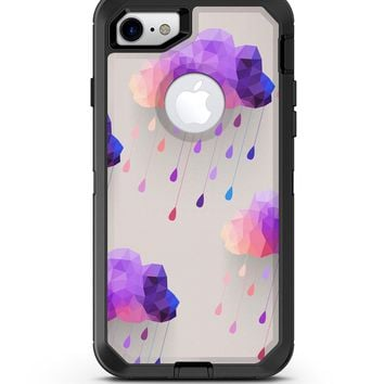 Geometric Rain Clouds - iPhone 7 or 8 OtterBox Case & Skin Kits