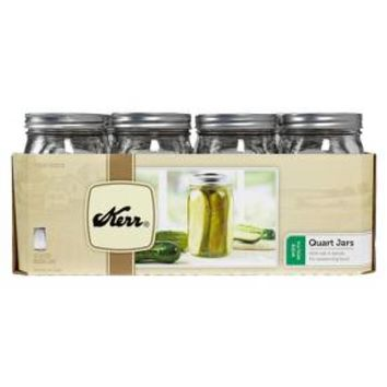 Kerr 1 Quart (32 oz.) Wide Mouth Mason Jar - Set of 12 : Target