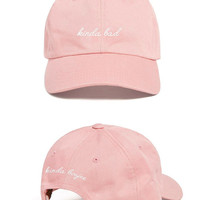 Kinda Bad, Kinda Boujee - Embroidered Dad Hat ( Soft Pink )