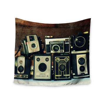"Robin Dickinson ""Through the Years"" Vintage Camera Wall Tapestry"