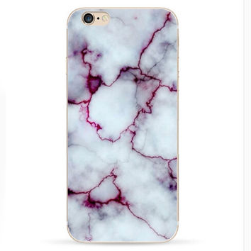 2016 Purple Marble Case for Iphone 6 Plus 6S
