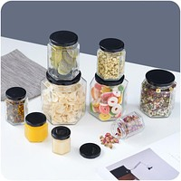 Seal Storage Glass Crisper Grains Food Storage Box Kitchen Insurance Tank Sorting Food Coarse Cereals Grains Storage Box Contain