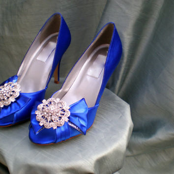 Wedding Shoes Blue -- Bridal shoes -- Pick your color