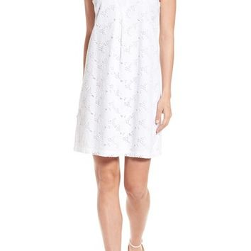 Tommy Bahama Eyelet Cotton Shift Dress | Nordstrom