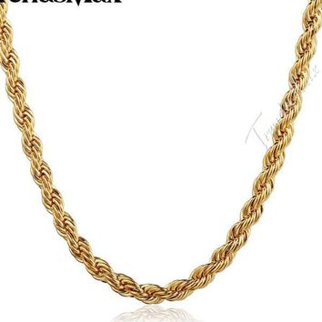 Men's Gold Rope Chain Jewelry