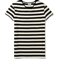 Saint Laurent - Striped Cotton-Jersey T-Shirt | MR PORTER