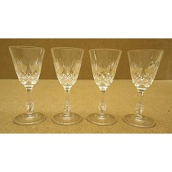 Set of 4 Miniature Wine Glasses (2 in D. x 5 in. H.)