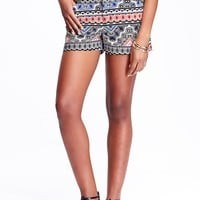 """Old Navy Womens Patterned Shorts 3 1/2"""""""