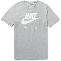 Nike - Air Heritage Printed Cotton-Jersey T-Shirt