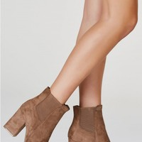 Step In Suede Ankle Booties