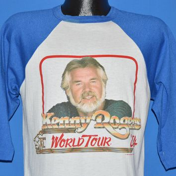 80s Kenny Rogers 1984 World Tour Jersey t-shirt Medium