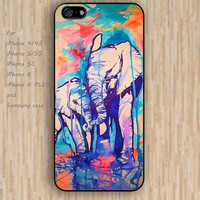 iPhone 5s 6 case colorful Cartoon elephant phone case iphone case,ipod case,samsung galaxy case available plastic rubber case waterproof B236