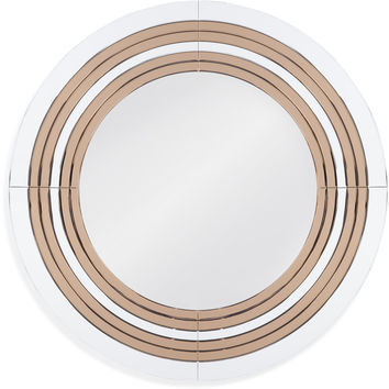 "Bassett Mirror Jupiter Wall Mirror Bronze/Clear Glass 45"" x 45"" - M4016EC"