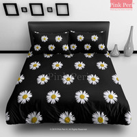 Daisy Flower Floral Little Sun Flower Bedding sets Home & Living Wedding Gifts Wedding Idea Twin Full Queen King Quilt Cover Duvet Cover Flat Sheet Pillowcase Pillow Cover 032