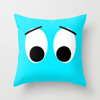 I is Sad Throw Pillow by Alice Gosling | Society6