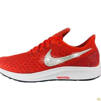 Sale - Nike Air Zoom Pegasus 35 + Crystals - Team Orange