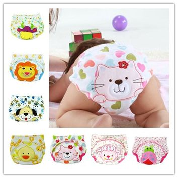 1pc Baby Waterproof Reusable cotton Diapers Children Cloth Diaper Reusable Nappies Training Pants Diaper Cover Washable NB004