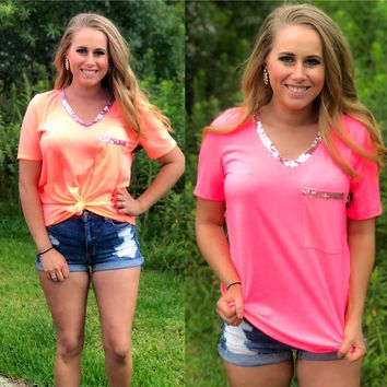 Sweetheart Sequin Pocket Tee