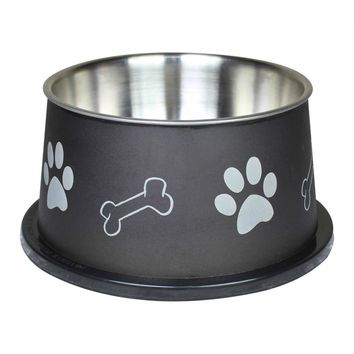 Paw Bone Print Stainless Steel Pet Bowl Fusion Spaniel By Boomer N Chaser