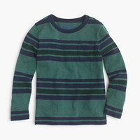 crewcuts Boys Cotton-Blend Long-Sleeve Pocket T-Shirt In Engineered Stripe