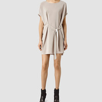 ALLSAINTS US: Womens Sonny Dress (Taupe)