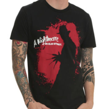 A Nightmare on Elm Street Freddy Silhouette T-Shirt