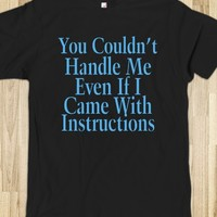 Can't Handle Me-Unisex Black T-Shirt