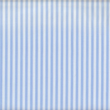 Baby Blue Stripe Fabric by the Yard   100% Cotton
