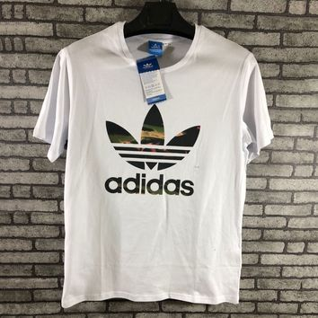 ADIDAS Woman Men Fashion Short Sleeve Tunic Shirt Top Blouse