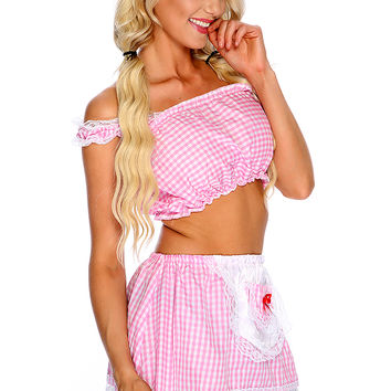 Pink White 2.Piece Storybook Costume
